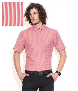 John Players Red Formals Shirt