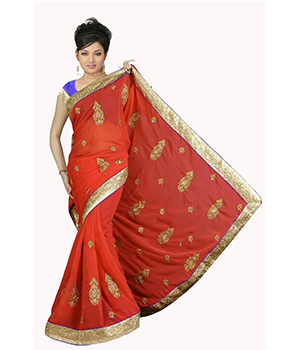 Desighner Embroiderd Saree VLS-57-1029