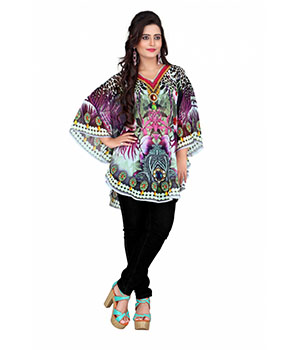 7 Colorslifestyle Multi Coloured Georgette Pooncho AAA6001POV1M