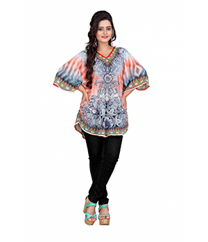 7 Colorslifestyle Multi Coloured Georgette Pooncho AAC6003POV1M