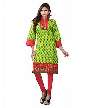 7 Colorslifestyle Multi Coloured Cotton Printed Kurti AAPKR78GGJNM