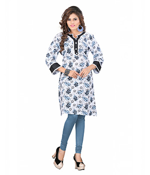 7 Colorslifestyle Multi Coloured Cotton Printed Kurti AAVKR108GJNM