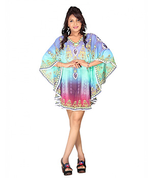 7 Colorslifestyle Multi Coloured Georgette Poncho AAW6012POV2M
