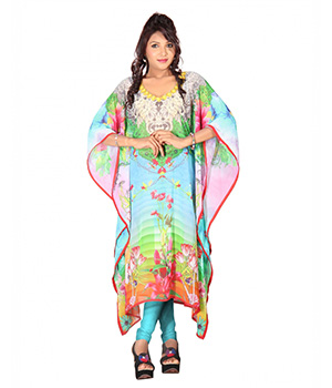 7 Colorslifestyle Multi Coloured Georgette Kaftan ABL7021KFV2M