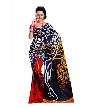 7 Colors Lifestyle Multi Coloured Dani Georgette Printed Saree ABTSR1505AADA