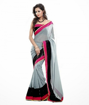 Design Fashion Chiffon Sari PSEAFDS002