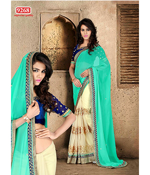 Firozi And Chiku�Bollywood Replica Saree TS-9268