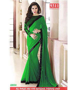 Green Color Bollywood Replica Designer Party Wear Georgette Saree TS-9311-GN