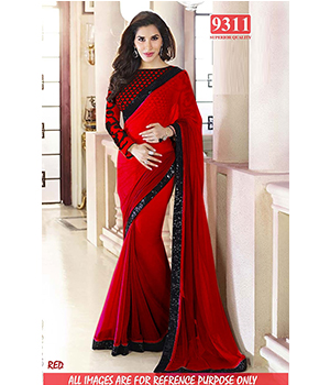 Red Color Bollywood Replica Designer Party Wear Georgette Saree TS-9311-R
