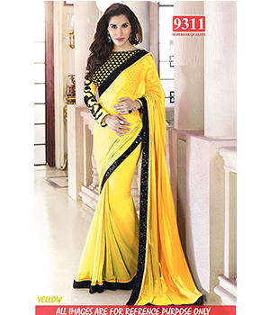 Yellow Color Bollywood Replica Designer Party Wear Georgette Saree TS-9311-Y