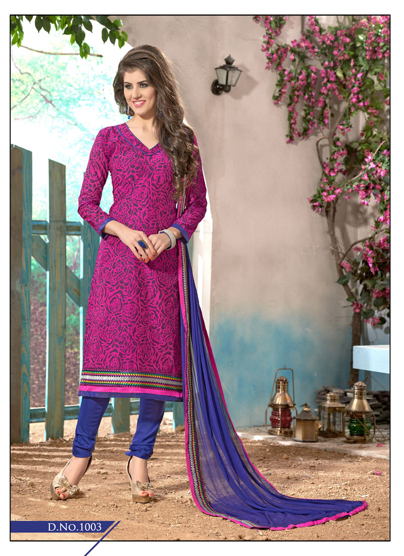 48f0f9fd10 Buy Khantil Buy Dark Purple Pink Cotton Dress Material DM2234 10 | Cheer  Shopping