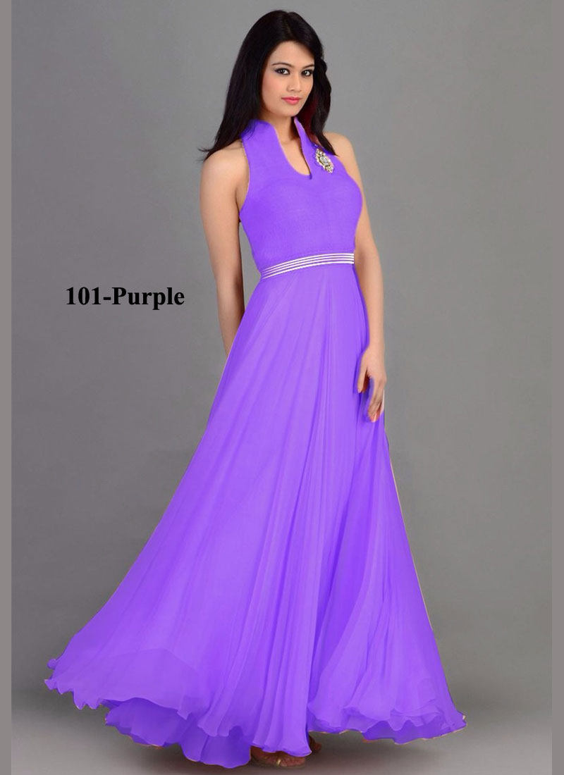 Khantil Stylish Purple Color Beautiful Gown   GS03-101-Purple