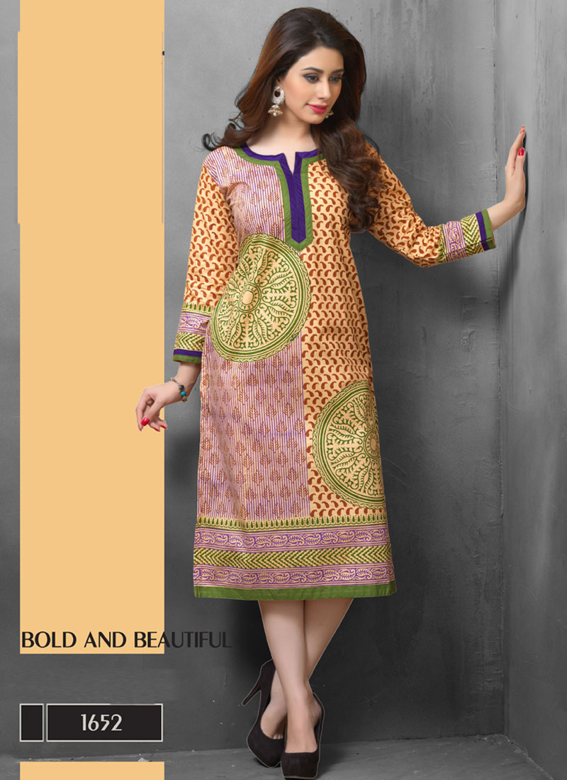 Khantil Multi Colour Latest New Online Kurti   KT35-1652
