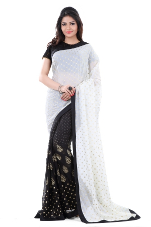 Club Art Decor Designer White And Black  Saree By A Kumar CLUBARTDECOR34021SR
