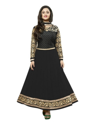 New Beautiful Fancy Black Anarkali suit uf723059_1