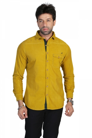 Apris Full Sleeve Corduroy shirt S3035_MUSTARD