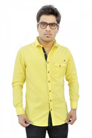 Apris Full Sleeve Corduroy shirt S3035_YELLOW