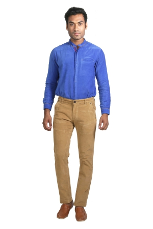 Apris Corduary Trouser With Knits Detailing On Back And Side Pockets A-6423_CAMEL