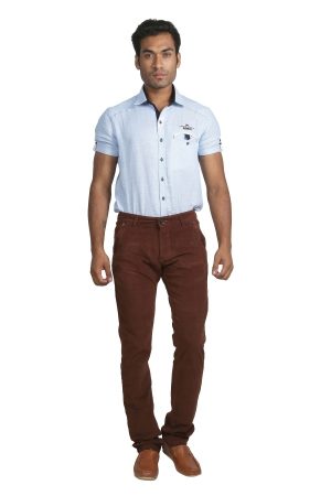 Apris Corduary Trouser With Knits Detailing On Back And Side Pockets A-6423_M.BROWN