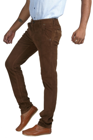Apris Corduary Trouser With Knits Detailing On Back And Side Pockets A-6423_TOBACO