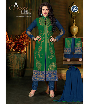 Beautiful Green Blue Style Straight Fit uf723563