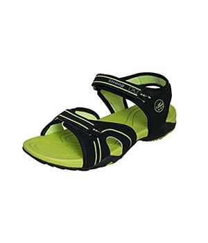 Campus Strong Black Green Sandal