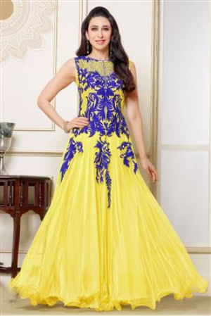 58a1c3437a Buy Jomso Yellow Color Net Gown JOM2891123 | Cheer Shopping