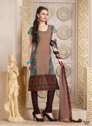 New Designer And Party Wear Off-Turquoise And Wine Salwar Suit FA242-012
