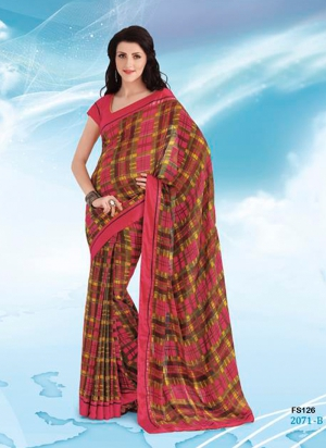 New Designer And Party Wear Pink And Multicoloure Saree FS126-2071-B
