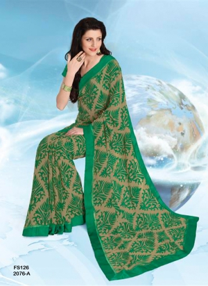 New Designer And Party Wear Green Designer Saree FS126-2076-A