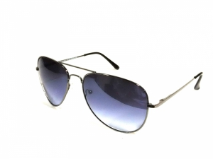 Grey Aviator Sunglasses With Blue Lens 27Gnbl