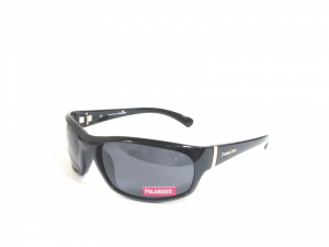 Black Wrap Around Polarized Sunglasses