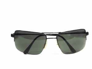 Rectangle Aviator Sunglasses With Polycarbonate Lens 5051Bk