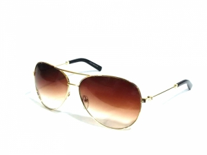 Gold Brown Aviator Sunglasses For Men And Women 578Gbr