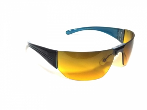 Amber Vision Wraparound Sunglasses For Driving And Sports 81147