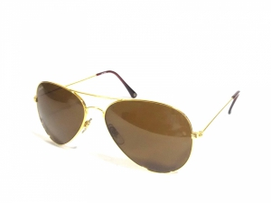 Classic Gold Brown Aviator Sunglasses For Men And Women Capglbr