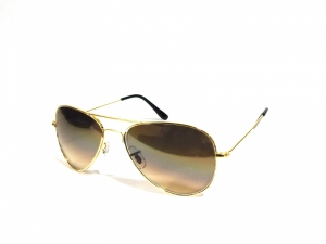 Gold Brown Gradient Aviator Sungalsses For Men And Women Es25Gbr