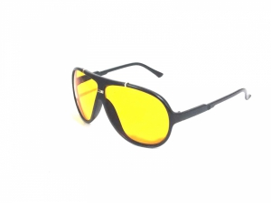 Sigma Night Driving Aviator Sunglasses With Yellow Anti Reflective Glare Coating With Uv Protection