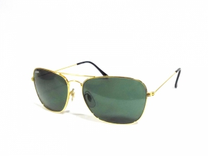 Gold Rectangle Aviator Sunglasses For Men And Women Pgl