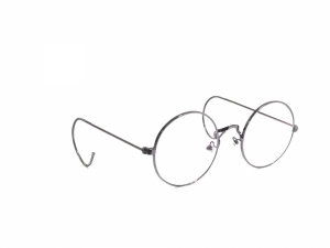 Grey Round Gandhi Shape Harry Potter Style With Curl Side Computer Glasses With Anti Glare Coating Medium Size