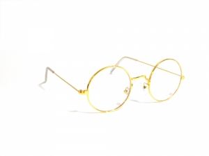 Gold Round Gandhi Shape Harry Potter Style Computer Glasses With Anti Glare Coating Small Size