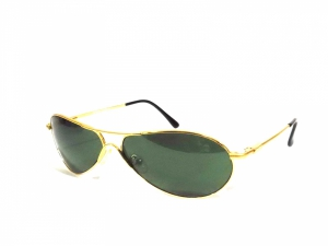 Sigma Gold Oval Sunglasses With Glass Lens