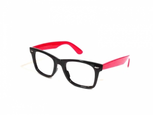 Black Red Wayfarer Computer Glasses