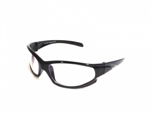 Clear Driving Sports Sunglasses Goggles With Anti Glare Reflective Coating Tr3008Bkclr
