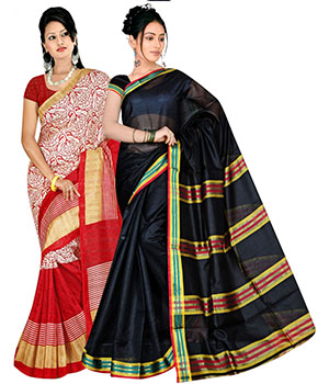 Indian E Fashion Bhagalpuri And Pollycotton Combo Pack Of 2 5025A1063