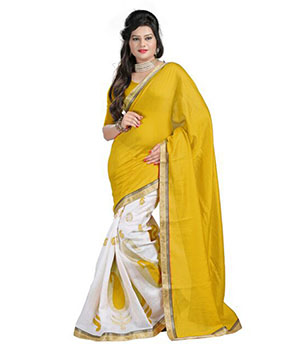 Indian E Fashion Jutt Silk Multi Color Saree 8010