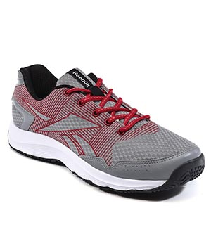 Reebok Performer Grey Red Black Shoes