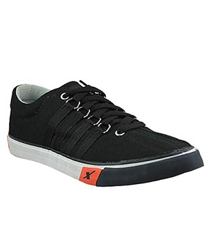 Sparx SCO-130G Black Canvas Shoes