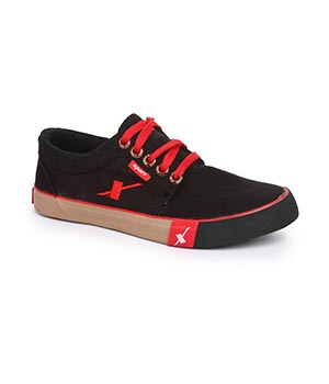 Sparx SM-175 Black Canvas Shoes