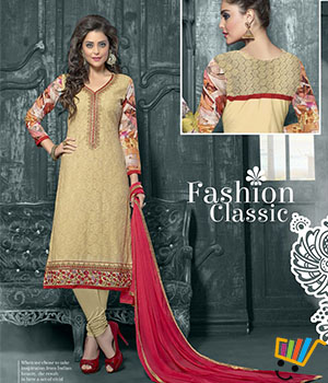 Admire18 Embroidered Heavy Designer Partywear Straight Suit 151